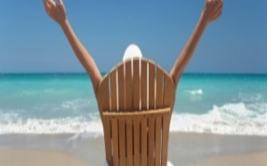 beach chair with open arms